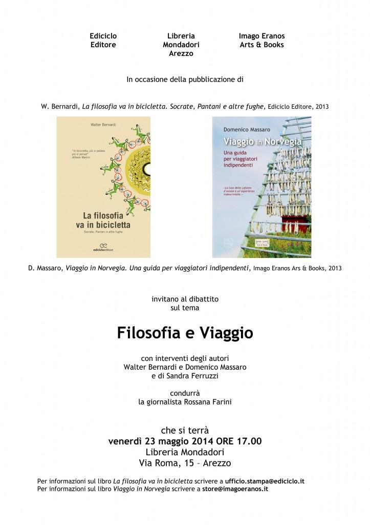 Locandina Filosofia e Viaggio Arezzo 23. 05. 2014