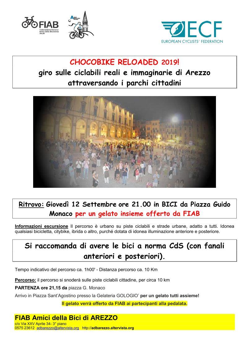 Giovedì 12 serata Chocobike FIAB ad Arezzo!