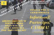 Sabato 9 Novembre Aderisci a FIAB Arezzo - Bike for Future!