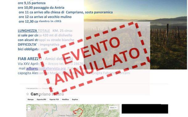 ANNULLATO: Pedalata di Autunno con FIAB Arezzo