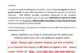 Anche FIAB pedala contro CoViD - aiutiamo chi aiuta, ad Arezzo