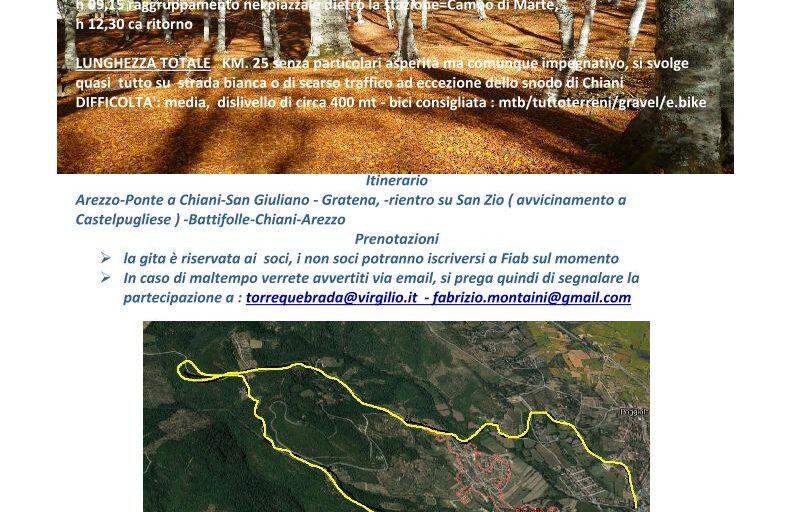 Domenica 8 Novembre CicloFoliage con FIAB Arezzo!